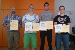 A XX. Országos Irányítástechnikai Programozó Versenyen Bertók Bálint, Németh Zoltán és Szüts Gábor képviselték az Egyetemet és az Automatizálási Tanszéket.